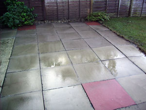 Great Patio After Cleaning With Pressure Washer